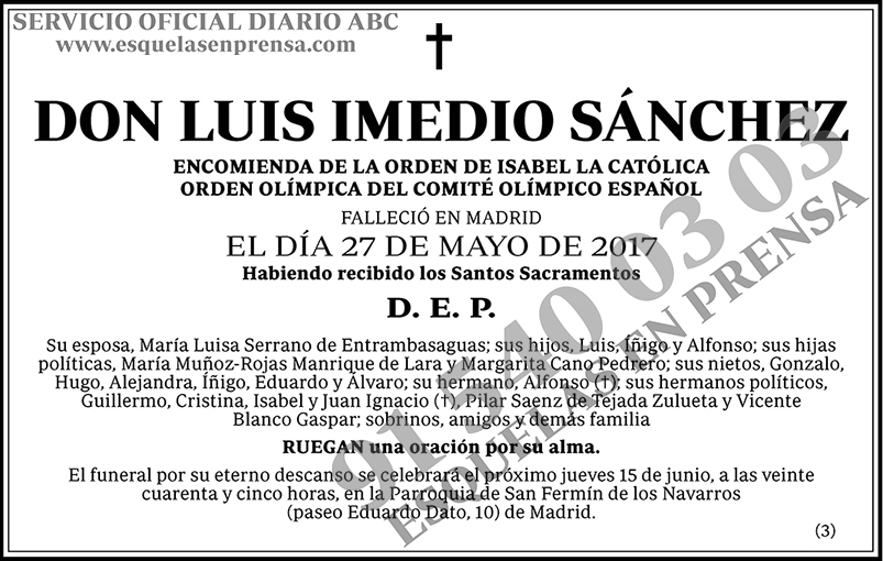 Luis Imedio Sánchez